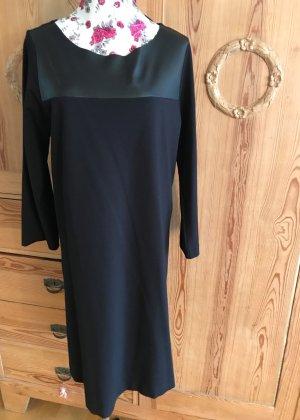 massimo rebecchi Vestido de cuero negro Viscosa