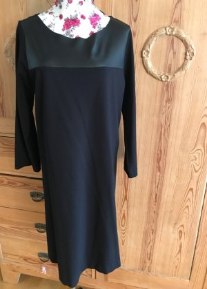 massimo rebecchi Leather Dress black viscose
