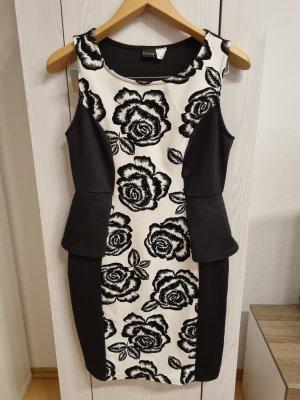 Bodyflirt Peplum jurk wit-zwart