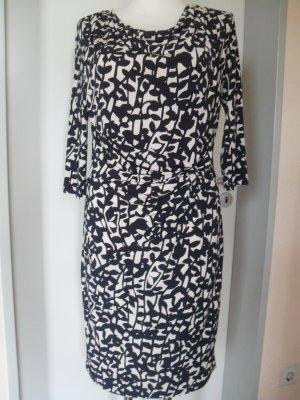 Elegantes Kleid - Neu - GR 40 - Muster blau/weiss