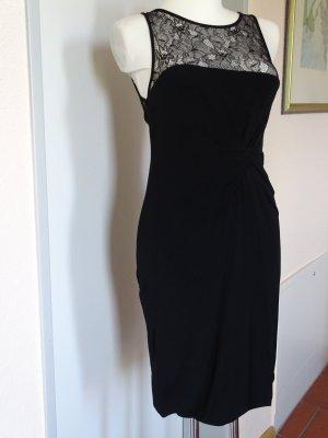 Elegantes Kleid - PINKO - schwarz mit Spitze - GR 34/36