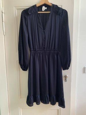 Claudie Pierlot Shirtwaist dress blue-dark blue viscose