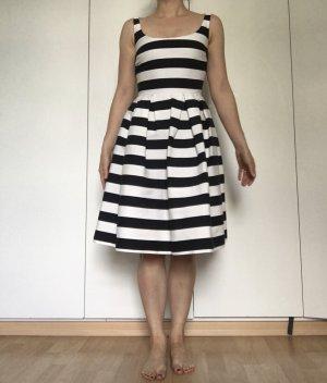 Warehouse Vestito di lana bianco-nero