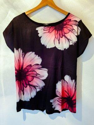 Elegantes Materialmix Shirt - Vorne seidig, hinten normaler Stoff - sehr luftig für den Sommer