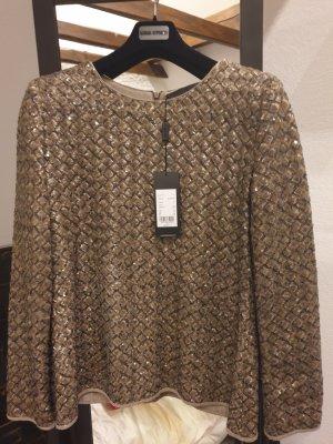 Barbara Schwarzer Tunique-blouse gris brun