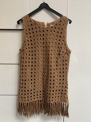 Pure Cashmere Crochet Top multicolored