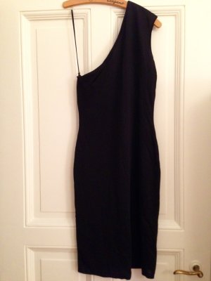 Ralph Lauren One Shoulder Dress black polyester