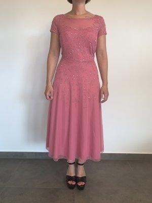 Elegantes Paillettenkleid von Vera Mont Gr. 40 altrosa