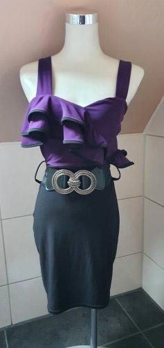 Elegantes Pencil-Kleid Minikleid, GoGo, Sexy, Lila/Schwarz, elastisch, Bodycon