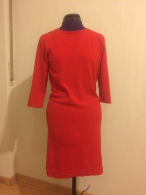 Luisa Cerano Robe à manches longues rouge