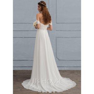Elegantes, schulterfreies Brautkleid mit A-Linie!! NEU
