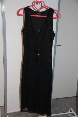 Elegantes, schwarzes Abendkleid mit Pailletten