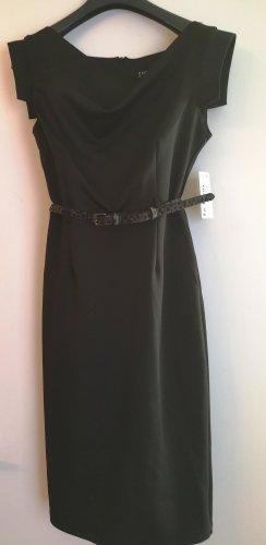 Elegantes schwarzes Kleid. Größe 36.