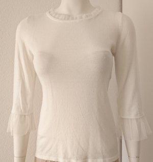 Elegantes, sehr feines Strickshirt von Orsay, 3/4-Arm, Größe M (38), cremeweiß
