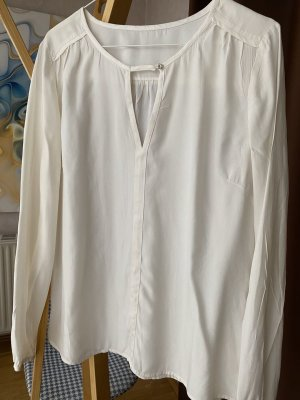 1.2.3 Paris Long Sleeve Blouse white silk