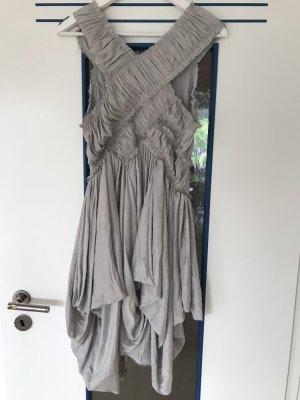 Allsaints Spitalfields Balloon Dress light grey-silver-colored silk