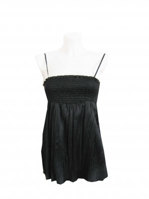 Amisu Empire Waist Top black polyester