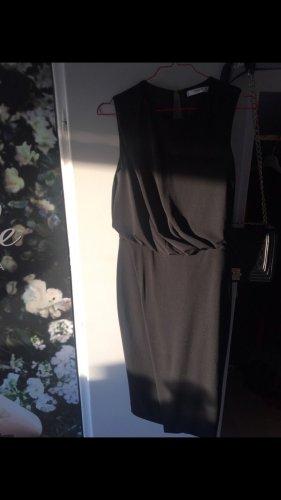 Zara Woman Vestido camisero negro
