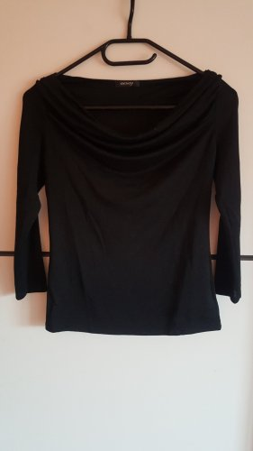 Orsay Camisa con cuello caído negro