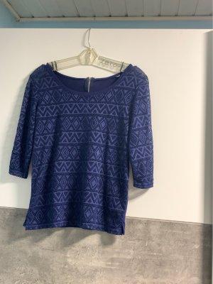 Netshirt donkerblauw