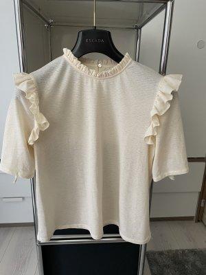 Mango T-Shirt cream-natural white