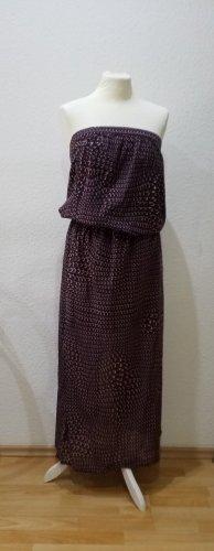 Elegantes Sisley Bandeau Kleid in lila-violetten Tönen mit grafischem Muster, in Größe 36