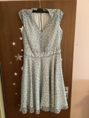 Apart Szyfonowa sukienka jasnoniebieski-w kolorze białej wełny