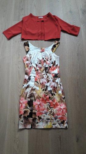 elegantes Sommerkleid mit Blumen inkl. Westchen