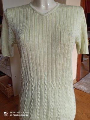 Barisal T-shirts en mailles tricotées jaune citron vert-vert pâle