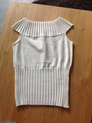 Comma Knitted Top white mixture fibre