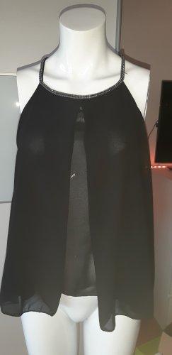 0039 Italy Blouse met korte mouwen zwart