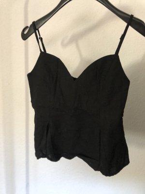 Zara Peplum Top black