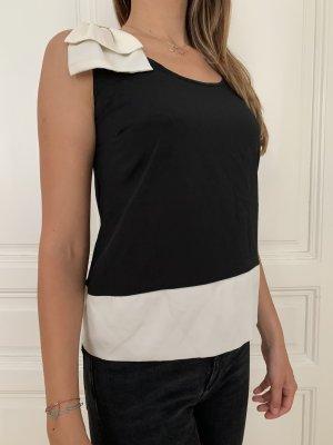 Silk Top black-cream polyester
