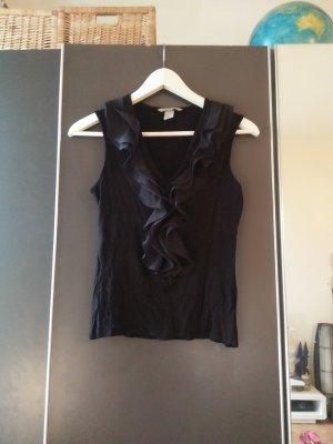 H&M Frill Top black