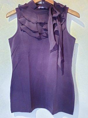Orsay Top à volants gris violet