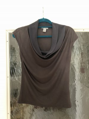 H&M Top tipo cascada gris oscuro-gris