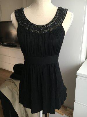 Elegantes Top, schwarz mit Pailletten