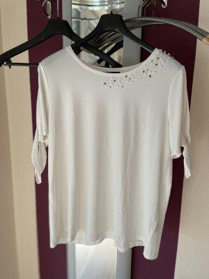 Sara Lindholm T-shirt blanc-blanc cassé