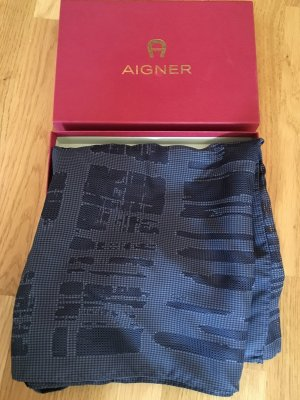 Aigner Neckerchief dark blue silk