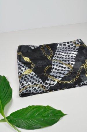 Elegantes Vintage Tuch in Schwarz Weiß Gold