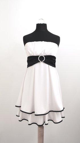 Jennifer Taylor Vestido estilo flounce negro-blanco