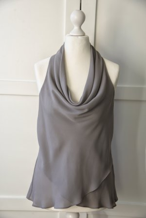 Warehouse Top collo ad anello grigio