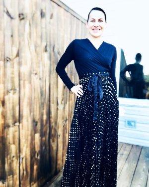 LuLaRoe Kopertowa sukienka czarny-złoto