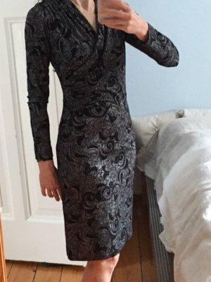 Elegantes Winterkleid von KD12, schwarz-grau
