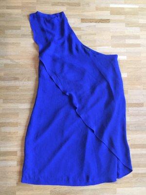 Zara Robe asymétrique bleu fluo