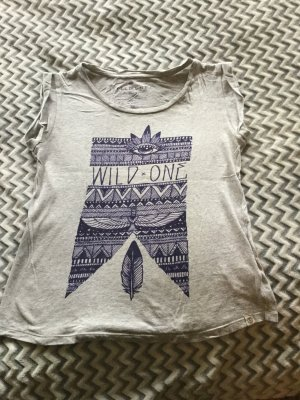 Element Camiseta estampada color plata-azul oscuro