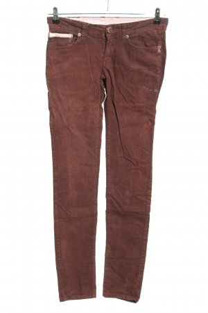 Element Pantalone di velluto a coste marrone stile casual