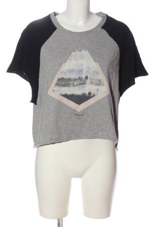 Element Camisa recortada gris claro-negro moteado look casual