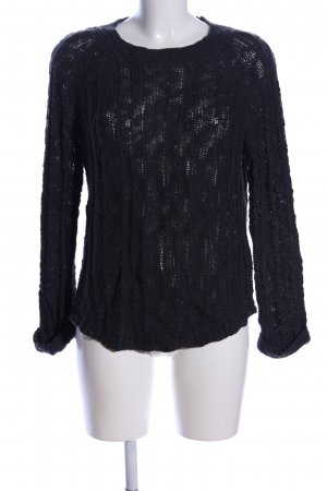 Element Grobstrickpullover schwarz Casual-Look