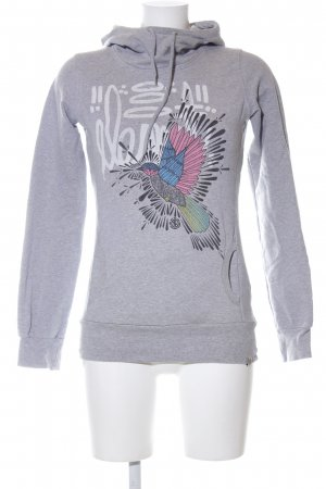 Element Kapuzenpullover Motivdruck Casual-Look